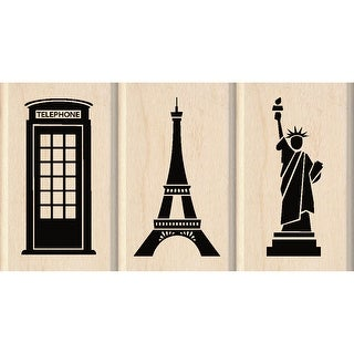 "Inkadinkado Mounted Stamp Set 3.75""X2""-Sightseeing"