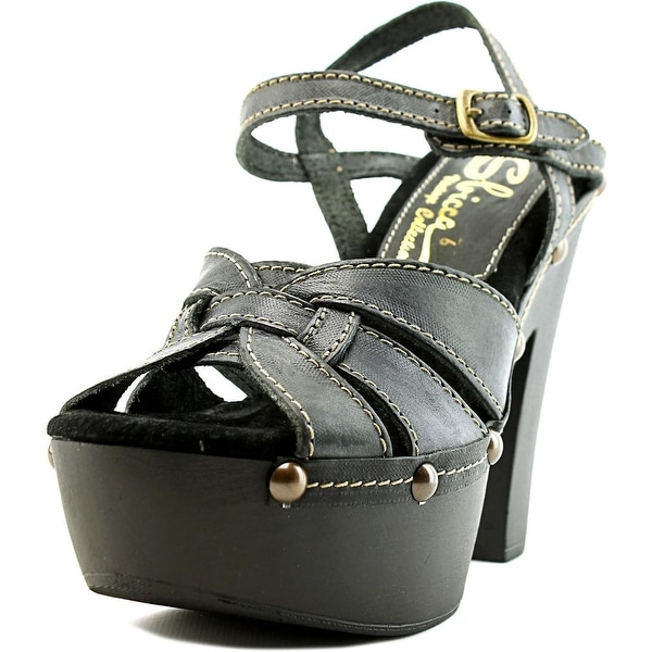 Sbicca Olympia Women Open Toe Leather Platform Sandal