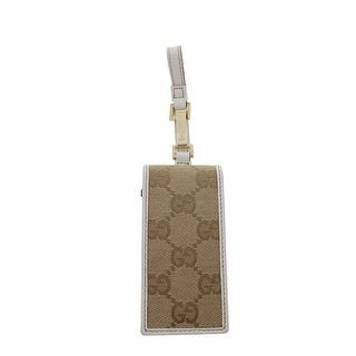 Gucci Womens iPod Case Leather Trim Flap