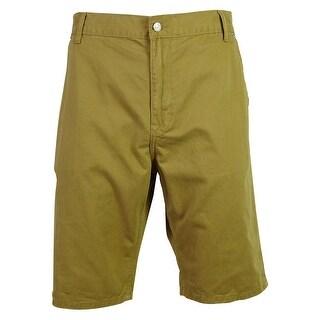 IZOD Men's Solid Color Denim Shorts - Butterscotch - 36