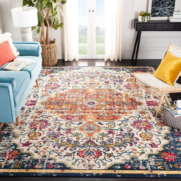 Safavieh Madison Sabire Boho Medallion Distressed Rug. Opens flyout.