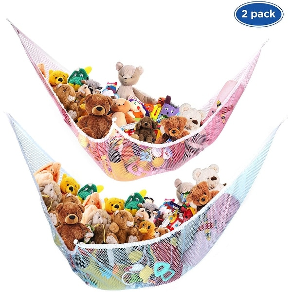 Toy Storage Mesh Hammock Neatly Organize Net for Stuffed Animals - 2. Opens flyout.
