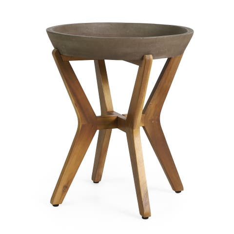 Yukon Outdoor Side Table by Christopher Knight Home