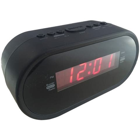 "Sylvania Scr1221 .6"" Digital Alarm Clock Radio"