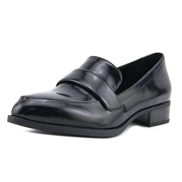 Nine West Nextome Women Pointed Toe Leather Black Loafer