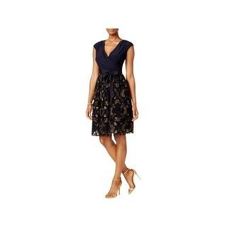 SLNY Womens Cocktail Dress Surplice Sleeveless (5 options available)