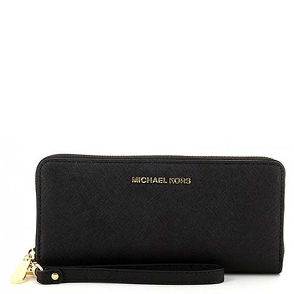 7f08d376e5ed Michael Michael Kors Jet Set Travel Travel Continental Saffiano Leather 18K
