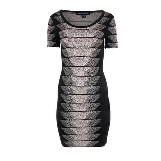 French Connection Womens Pattern Knee-Length Cocktail Dress