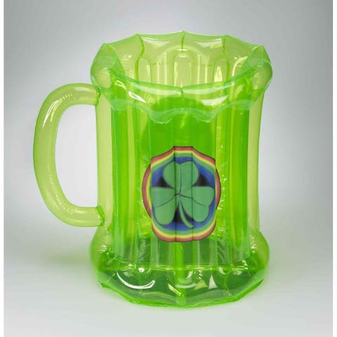 St. Patrick's Green Inflatable Mug Cooler - Multi
