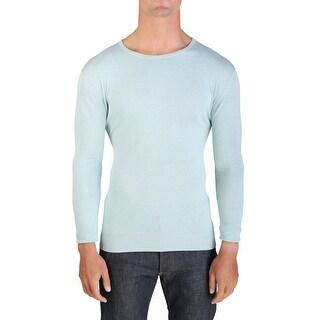 Prada Men's Cotton Crewneck Sweater Teal