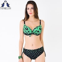 61d022a62cc plus size swimwear swimsuit women Swimwear bikini 2016 swimming suit  swimsuit solid female Large Size Swimwear