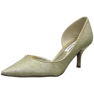 Nina Womens Leather Pointed Toe D'Orsay Heels - 8 medium (b,m)