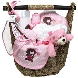 Raindrops Baby Girls Welcome Home 13-Piece Gift Set, Pink, 3-6M - One Size