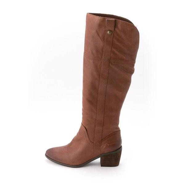 Vince Camuto Womens MORDONA Leather Almond Toe Knee High Fashion Boots