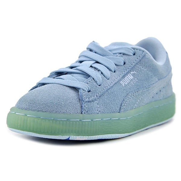 afcec27c1b2a Shop Puma Suede Classic Ice Mix Kids Youth Synthetic Blue Fashion ...