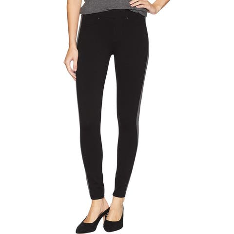 Liverpool Womens Leggings Gray Black Size 10 Ponte Side-Stripe Ankle