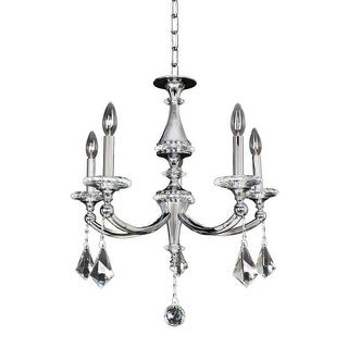 Allegri 12170 Floridia 5 Light 1 Tier Chandelier - Silver