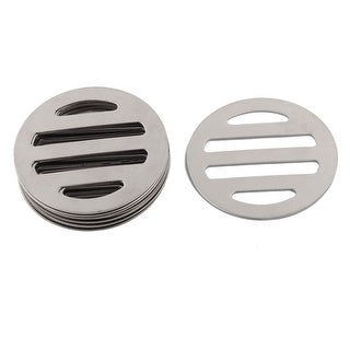 Kitchen Bathroom Metal Round Shaped Floor Drain Drainer Cover Silver Tone 10 Pcs