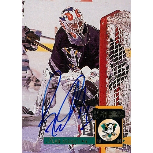 0a07563a2 Shop Signed Tugnutt Ron Anaheim Mighty Ducks 1993 LeafDonruss Hockey Card  autographed - Free Shipping On Orders Over  45 - Overstock.com - 17703463