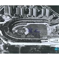Polo Grounds Photo Autographed By Bobby Thomson Inscribed Oct 3 1951