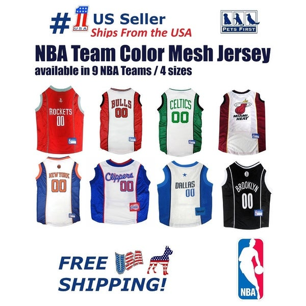 Shop Pets First NBA Dog Basketball Mesh Jersey - Licensed - On Sale ... 485ca86b9