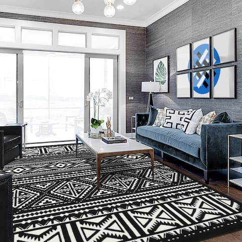 Allstar Tribal Accent Rug with Beni Ourain design