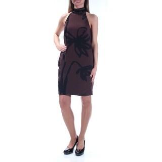 RACHEL ROY $159 Womens 1396 Brown Low Back Sleeveless Sheath Dress 0 B+B
