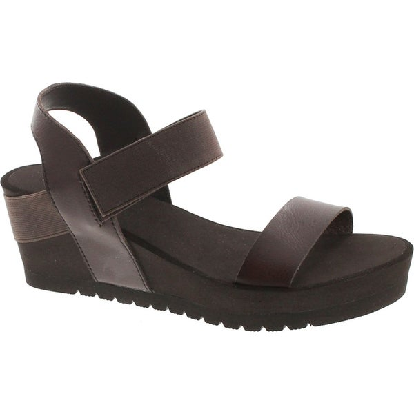 Yellow Box Women's Hayla Comfort Foam Platform Wedge Sandal - Brown