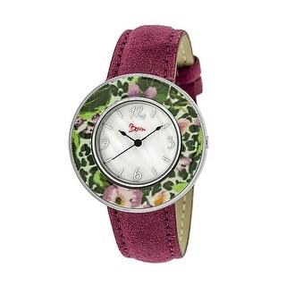 Boum Bouquet Women's Quartz Watch, Genuine Leather Band