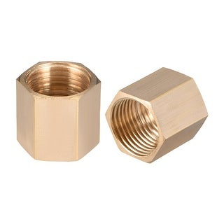 "Brass Pipe Fitting,1/2"" G Female Thread Straight Brass Hex Rod Pipe Fitting 2pcs - 1/2"" G Female 2pcs"