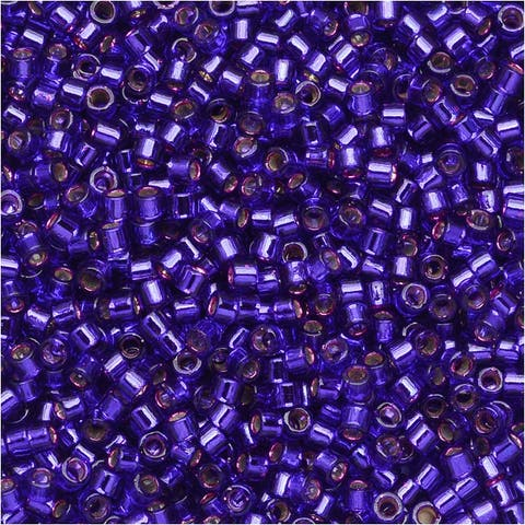 Miyuki Delica Seed Beads 11/0 - Silver Lined Violet DB610 7.2 Grams