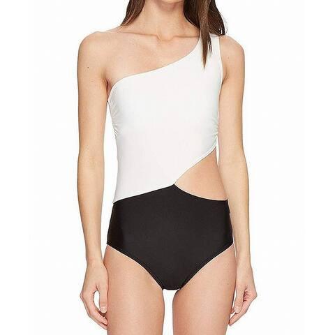 MICHAEL Michael Kors White Womens Size 14 Cutout One-Piece Swimsuit