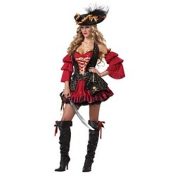 Womens Spanish Pirate Sexy Adult Halloween Costume