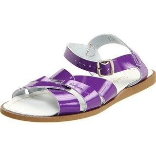 Salt Water Girls Patent Flat Sandals - 7 medium (b,m)