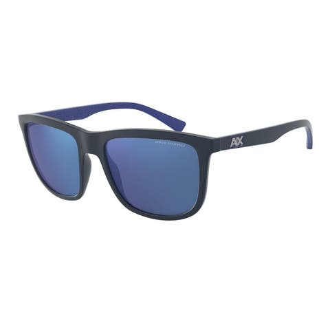 Armani Exchange AX4093S 829555 56 Matte Blue Man Square Sunglasses