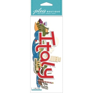 Jolee's Boutique Title Waves Dimensional Stickers-Italy