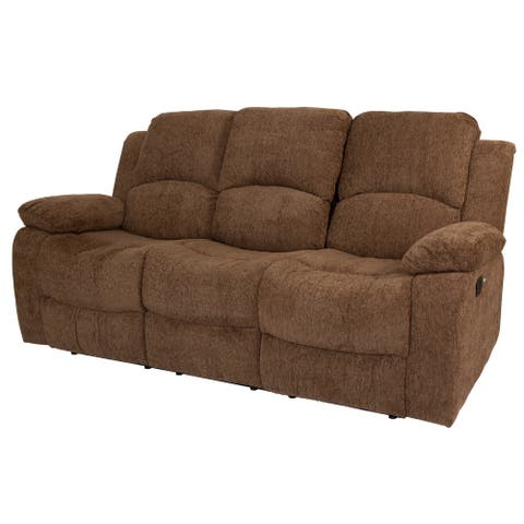 Chelsea Upholstered Seating w/Manual Recline, Cup Holders, Power USBs