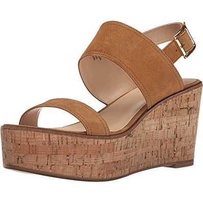 Steve Madden Womens Caytln Leather Open Toe Casual Platform Sandals