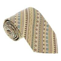 Missoni U5326 Gold/Brown Geometric 100% Silk Tie - 60-3