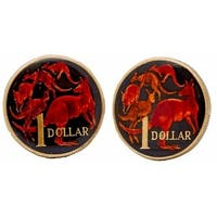 Australian Coin Cufflinks Hand Painted Coin Collector Memorbilla