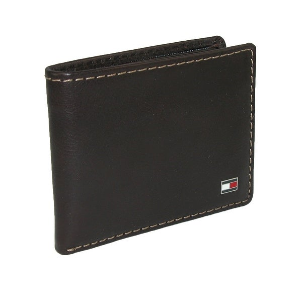 Tommy Hilfiger Men's Leather Logan Passcase Billfold Wallet - One size
