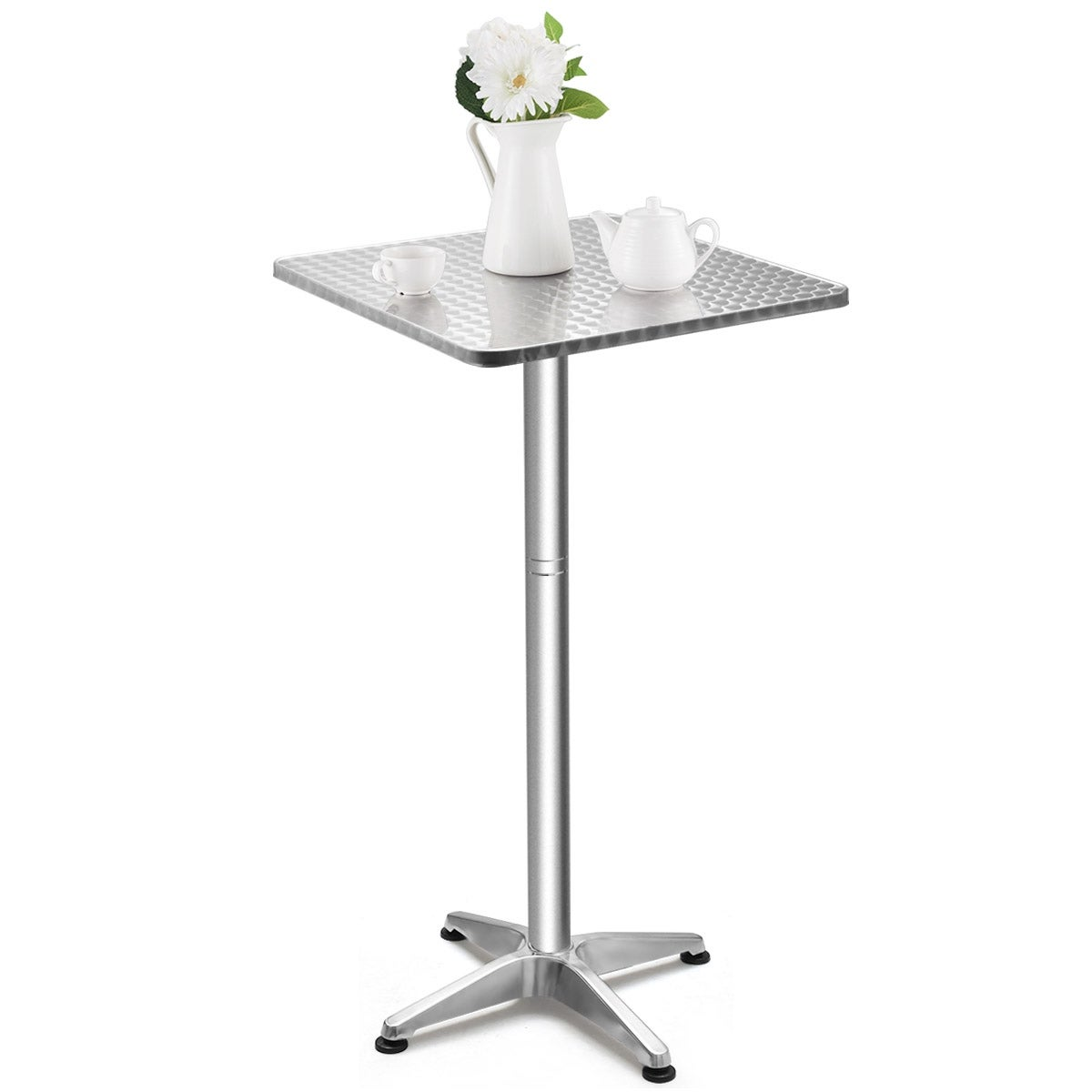 - Silver Bar Table Color Folding Table 2 Adjustable Height Square