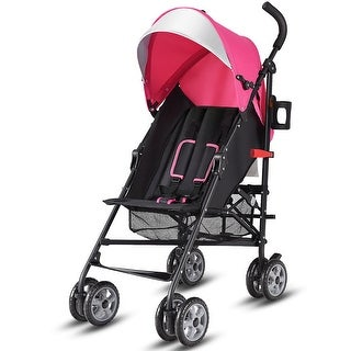 Costway Folding Lightweight Baby Toddler Umbrella Travel Stroller w/ Storage Basket