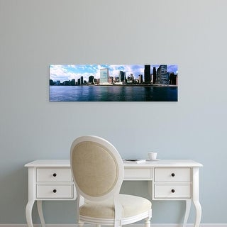 Easy Art Prints Panoramic Image 'Skyscrapers at the waterfront, East River, Manhattan, New York City' Canvas Art