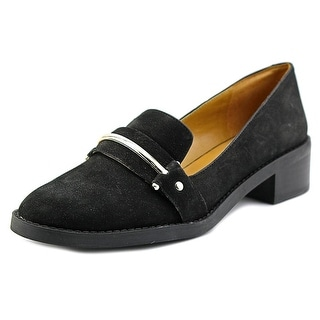 Nine West Chasin Women Round Toe Leather Black Loafer