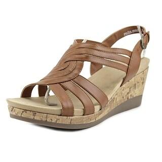 Kim Rogers Giada Open Toe Leather Wedge Sandal