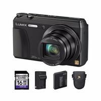 Panasonic Lumix DMC-ZS35 Black Digital Camera with 2 Batteries Bundle