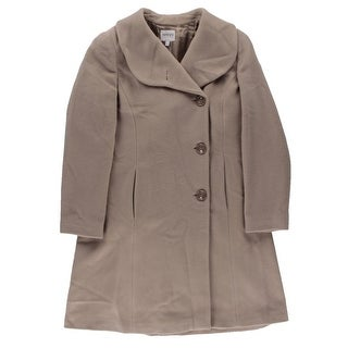 Armani Collezioni Womens Coat Virgin Wool Cashmere Blend - 10
