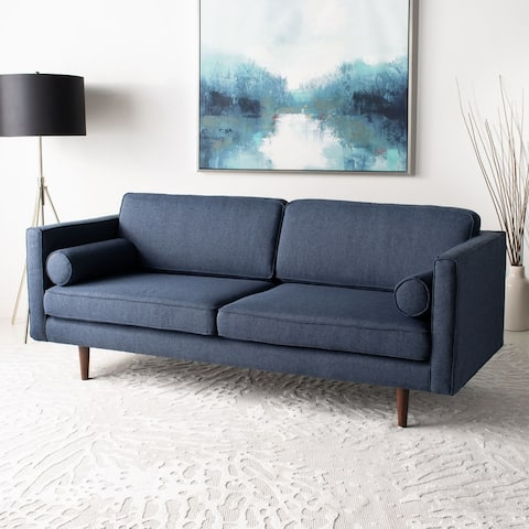 Safavieh Couture Florentino Tufted Sofa - Dusty Blue