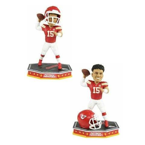 Kansas City Chiefs Patrick Mahomes #15 NFL Removable Helmet Bobblehead - Red